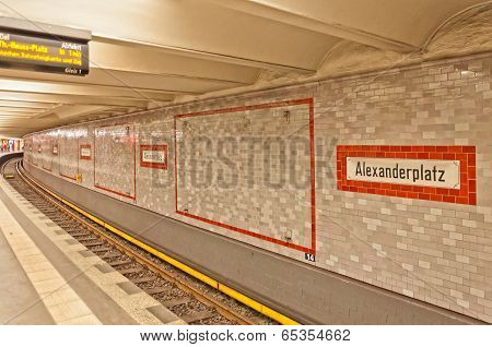 Alexanderplatz U-bahn (metro) station in Berlin