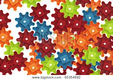 Colorful Cogs Toy