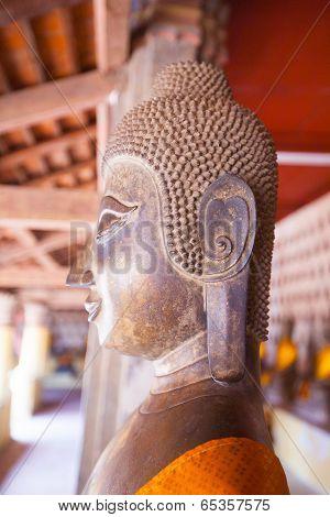 Lao, Vientiane - Wat Si Saket Temple.
