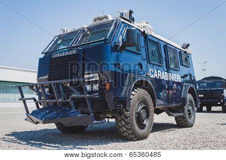 Carabinieri Vehicle At Militalia In Milan, Italy