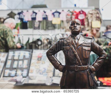 Mussolini's Statue At Militalia In Milan, Italy