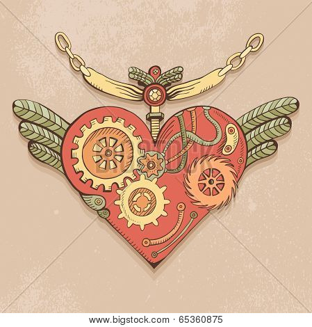 Colored Steampunk Heart