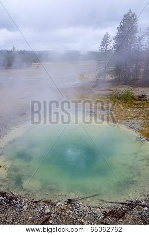Natural pool in Yellowstone National Park, United States