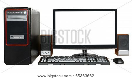 Desktop Computer With Widescreen Display