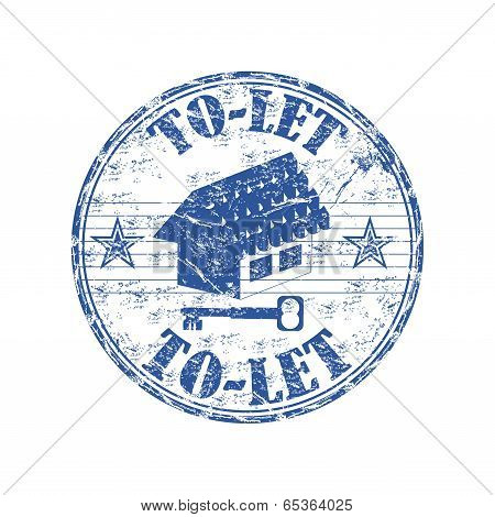 To let grunge rubber stamp