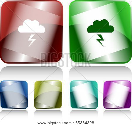 Storm. Internet buttons. Vector illustration.