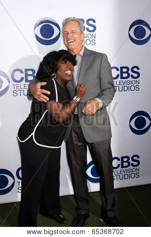 LOS ANGELES - MAY 19:  Sheryl Underwood, Gregory Harrison at the CBS Summer Soiree at London Hotel on May 19, 2014 in West Hollywood, CA