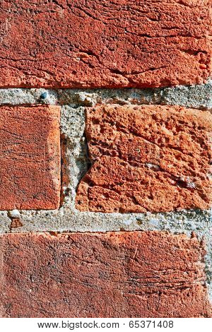 Rustic Red Bricks Close Up