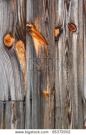 Unpainted Knotty Wood