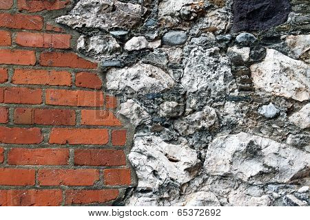 Brick And Stone Wall