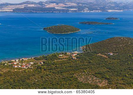 Adriatic landscape - Peljesac peninsula in Croatia