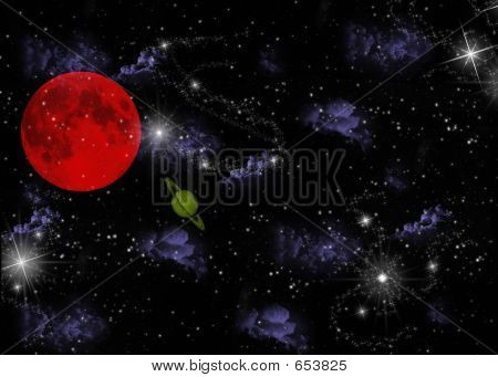 Planet And Stars