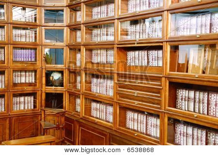 Row Of Books On A Shelves