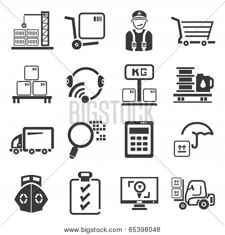 shopping and shipping icons