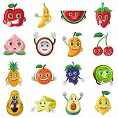 picture of papaya fruit  - A vector illustration of cute fruit character icon sets - JPG