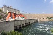 picture of hydroelectric power  - Akosombo Hydroelectric Power Station on the Volta River supplies with energy almost whole Ghana and half of Togo West Africa - JPG