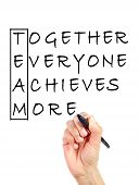 picture of saying  - Together everyone acheives more teamwork motivational saying - JPG