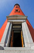 stock photo of inlet  - The brilliant red lighthouse at Florida - JPG
