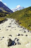picture of hooker  - Mount Cook  - JPG