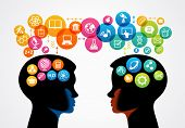 stock photo of cognitive  - communication concept - JPG