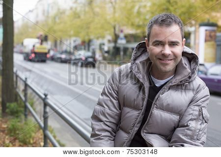 Portrait Of A Man In The Street