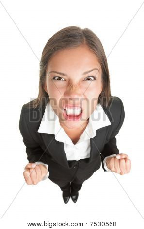 Angry Businesswoman Isolated