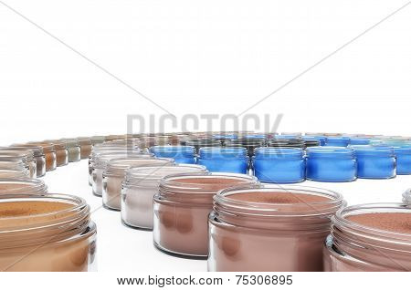 Colorful Cosmetic Jars