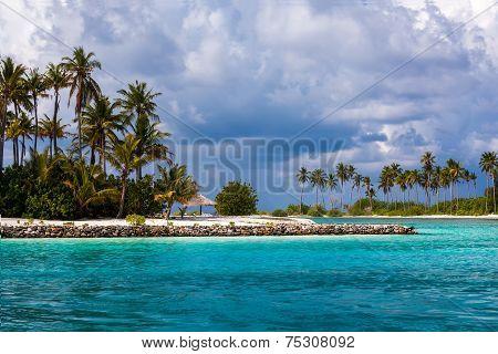 Scenic View At Ocean Near Maldives