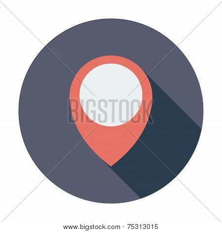 Map pin single icon.