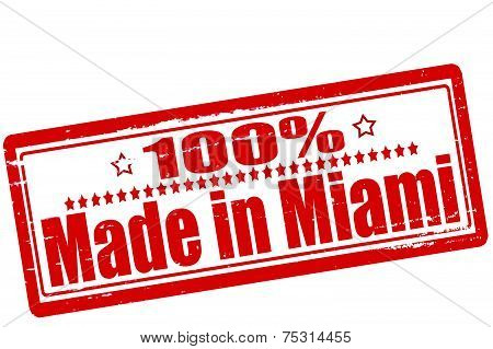 One hundred percent made in Miami