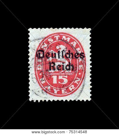 Reich overprint 1920