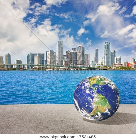 Planet Earth goes on vacation in Miami Florid