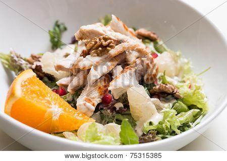 Turkey Breast Salad With Walnut And Pomelo