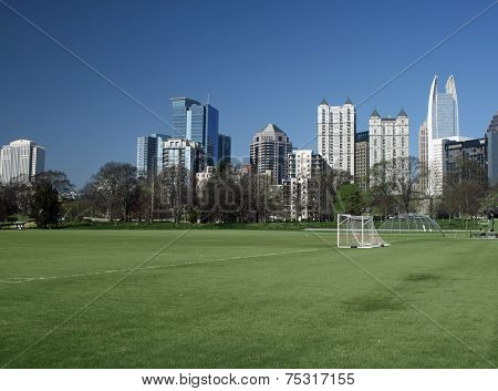 Atlanta Skyline and Piedmont Park