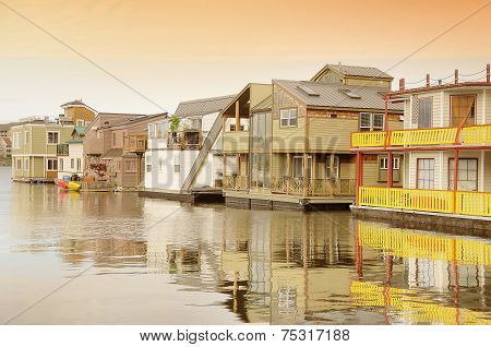 Floating Houses In Victoria.