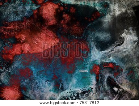 Abstract ink blot - digital edit painting background