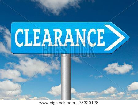 clearance grand sale stock summer or winter final sales and reduced prices % off road sign arrow