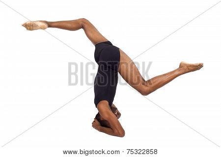 Upside Down Yoga on White