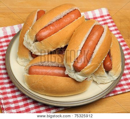 Plateful of Hot Dogs
