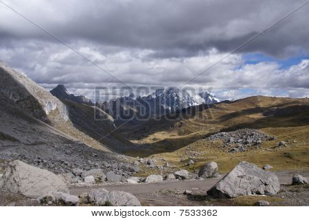 Storm Clouds Gather Over Broad Glacial Valley