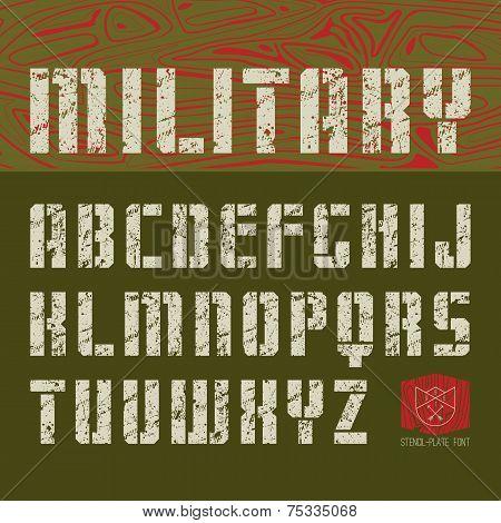 Stencil-plate Sans Serif Font Military