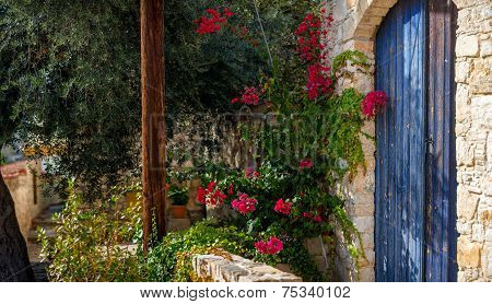 Entrance To A Traditional House. Lofou Village, Limassol District, Cyprus.