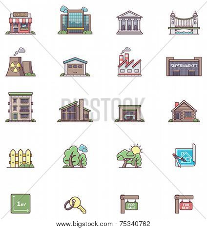 Set of the real estate icons