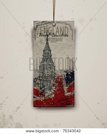 Big Ben the Clock Tower, London vector lineart illustration