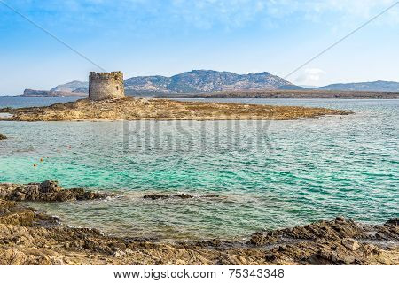 Watchtower Pelosa Near Stintino Beach In Sardinia