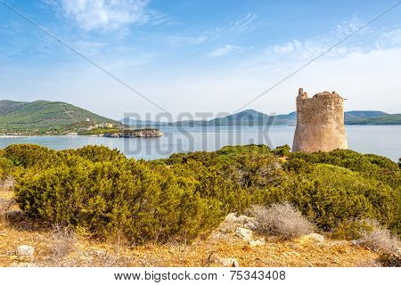 Watchtower Punta Del Bollo Of Sardinia