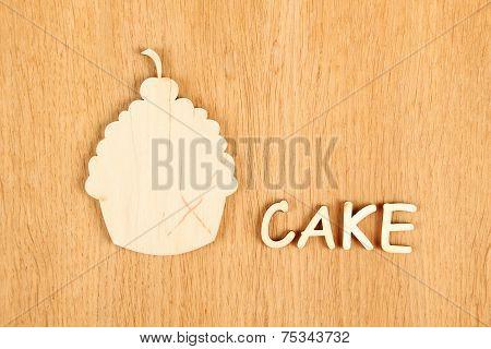 Cake. Silhouette