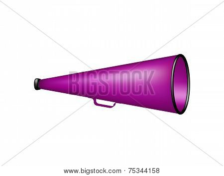 Vintage megaphone in purple design