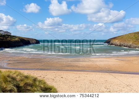Porthcothan Bay Cornwall England UK Cornish north coast between Newquay and Padstow