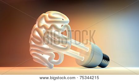 Brain Flourescent Light Bulb